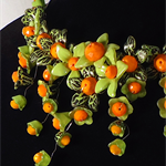 Stunning Lime and Orange Necklace