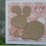 Kraft Bunny Gift Card ~ Baby Shower ~ New Baby ~ Easter Time ~ Ready to Post