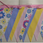 Pastel Flower Bunting Flags