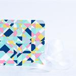 Fabric Greeting Card - pretty geometrics