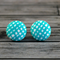 Buy 2 pairs and get a third set free (Fabric button studs only). Aqua weave