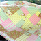 Cot Quilt- Owl - Girl - Modern Scrappy Style