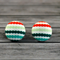 Buy 2 pairs and get a third set free (Fabric button studs only) .Spotty lines