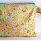 Yellow and multicoloured Flowered Wet Bag/Lined Pouch