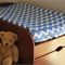 Sky Blue & White Chevron stripes Baby Change Table Cover, Baby Shower Gift