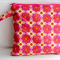 Pink and Yellow Geometric Flowers Wet Bag/Make Up Bag