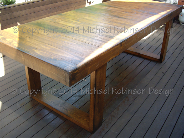 Rustic Contemporary Handmade Recycled Timber Dining Table