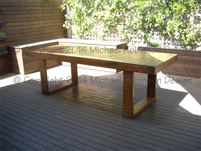 Rustic Contemporary Handmade Recycled Timber Dining Table Hot Iron Furniture