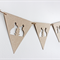 Easter Bunting Two Cute Bunnies Kraft Paper and Jute String