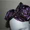 Regal Status.SALE ON Royal purple Satin Felt Fascinator millinery races wedding