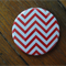 1 x Pocket Mirror - Red Chevron