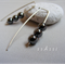 Argentium Sterling Silver range - magnetic haematite beaded earrings