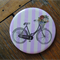 1 x Pocket Mirror - Vintage Bikes