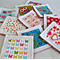 Fabric and Felt Matching Game, Memory, Snap.Set of 20 cards,10 pairs, Girl print