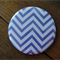 1 x Magnet - Purple Chevron