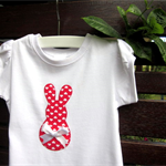 MaisyMoo Designs 'Heart Bunny' top. Sizes Newborn to 4 yrs
