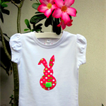 MaisyMoo Designs 'Fluffy Tail Bunny' top. Sizes Newborn to 4 yrs