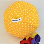 Balloon Ball Cover - Great present, basic range, yellow with white stars