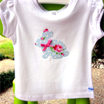 MaisyMoo Designs 'Rose Bunny' top. Sizes Newborn to 4 yrs