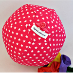 Balloon Ball Cover - Great present, basic range, pink with white stars