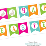 Printable Happy Easter Bunting