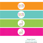 Printable Happy Easter Drink Wraps