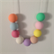 Pastel / Polymer Clay Necklace Round