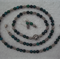 Malachite & Tibetan Silver Necklace, Bracelet & Earring  Set