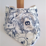 bandanna bib ANIMALIA cotton & bamboo backed super absorbent, soft and eco-frien