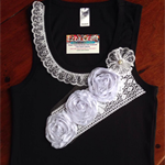 Women's Embellished Singlet Black/White - Size 14