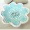 Porcelain ring dish, candle holder, ceramic bowl. Turquoise
