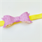 Glitter Bow Headband - Pink & Yellow - Velvet Band