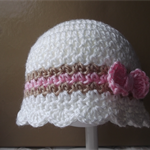 Crocheted Cloche hat , cute for Winter.