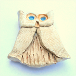 Brown Owl Ceramic Magnet - Hand painted Original Piece. Price Includes Postage.