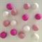 Felt Ball Garland Light Pink, Pink, White