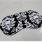 Eye Mask / Sleeping Mask black and white damask