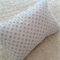 Vintage Chenille pillow soft blue and white