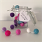 Felt Ball Garland Bubblegum in Purple Pink & Mint
