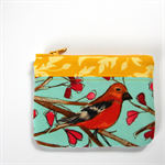 Patch Happy Purse - Bird on a branch with pink leaves