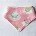Cupcake Bandana Dribble Bib Bamboo Backed