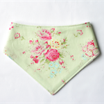 Green Roses Bandana Dribble Bib Bamboo Backed