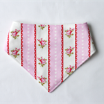 Valentine Roses Stripe Bandana Dribble Bib Bamboo Backed