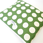 Ex-Large Zippered Wet Bag Pouch Nappy Wallet - Large Green Dots