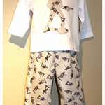 Size 1 - pants trosuers & long sleeve shirt top - boys soldier army