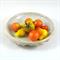 Ceramic Stoneware Cream White Bowl Shallow Dish Pottery Handmade Home Decor