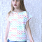 Size 6 - Girls Spectacles Print Holiday Top