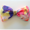 Neon and gold hair bow clip