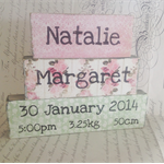 Custom Birth Name Block Set