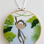 Nursery Artwork. Nursery Decor. Cheeky Monkey