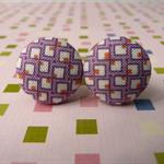 Mauve squares cufflinks